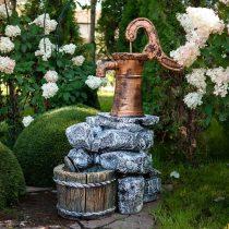 Садовый фонтан в виде колонки