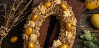 Песочный торт на Пасху в форме яйца