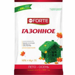 Удобрение для газона «Bona Forte» Лето-Осень в гранулах