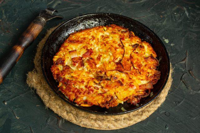 Рёшти с беконом и сыром готовы