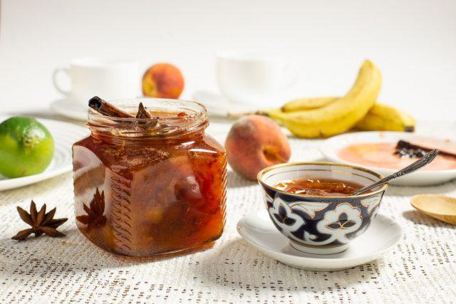Густой конфитюр «Экзотика» из персиков с бананом