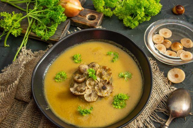 Грибной суп-пюре с опятами, или Самый вкусный суп осени