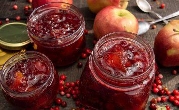 Варенье «Брусника с яблоками» с ванильным сахаром и корицей